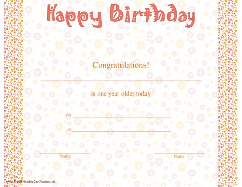 birthday certificate templates free printable 7 best images of printable birthday certificates happy