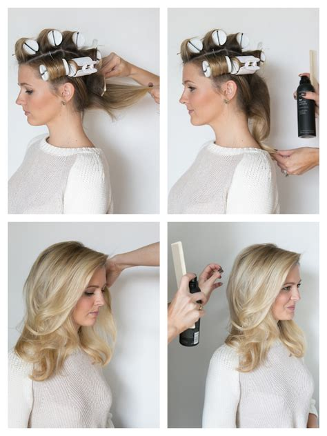 how to section hair for hot rollers how to hot roll your hair martha lynn kale