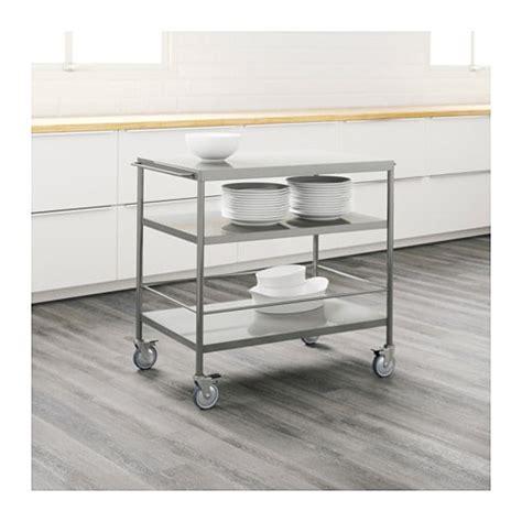 kitchen trolleys and islands flytta kitchen trolley stainless steel 98x57 cm ikea