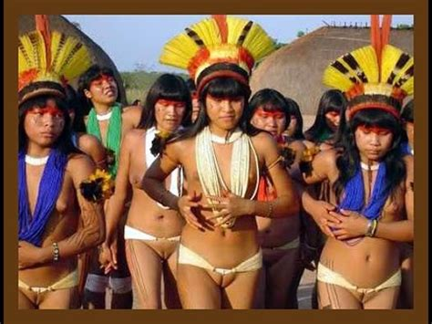 xingu people from the village of yawalapiti  an indigenous