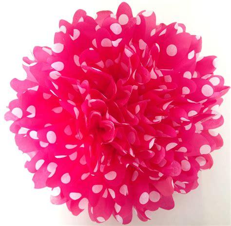 Tas Polka Pompom 18 inch large pink polka dot pom from tamscorner polka dot