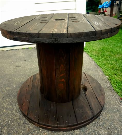 artistic icing wooden spool end table my diy