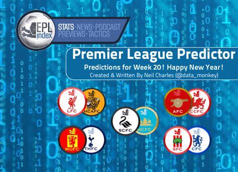 epl predictor epl prediction epl index unofficial english premier