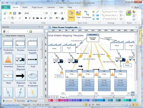 value mapping template visio value mapping software create a value map