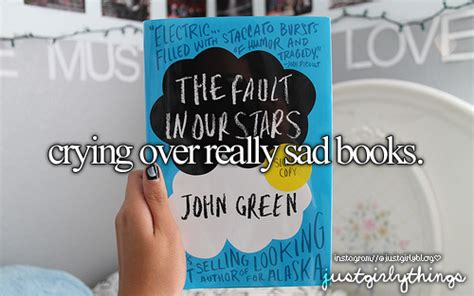 sad stuff on the books just girly things
