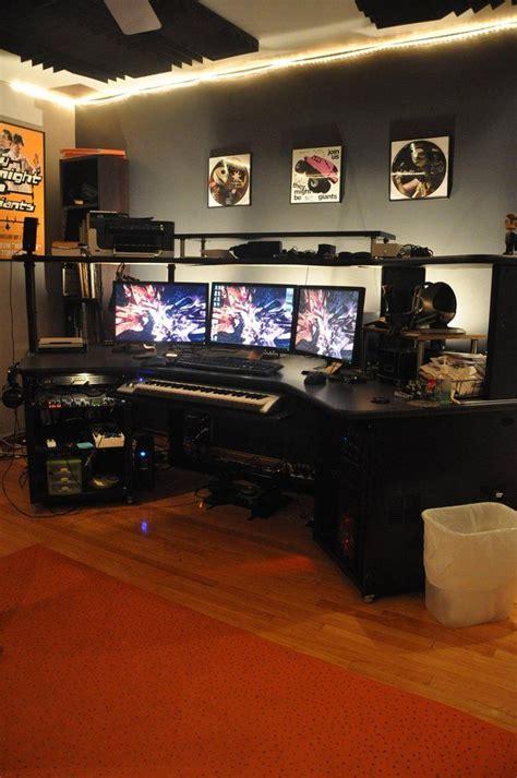 gaming station computer desk 162 best workspace images on pinterest desks pc setup