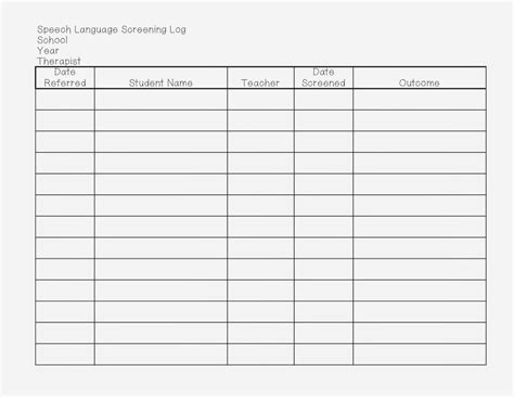 28 Images Of Referral Log Template Infovia Net Referral Log Template