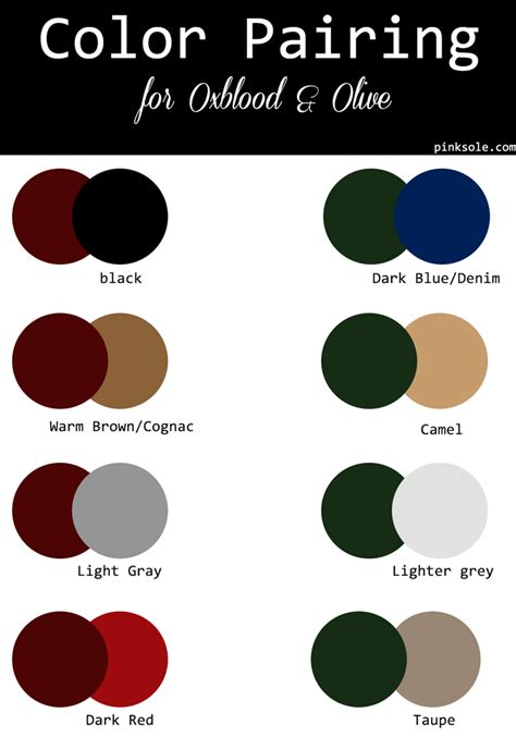 what colors go with maroon fall color palette color pairind merlot oxblood