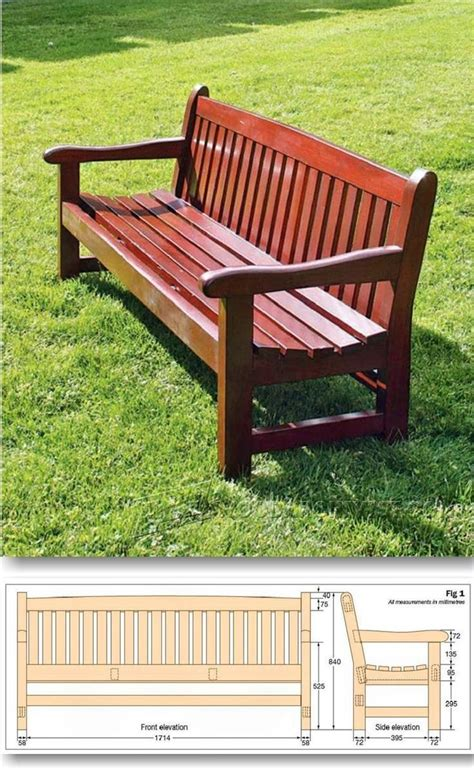 arts  crafts style shelves garden bench plans