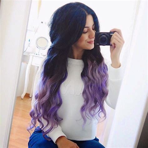 new dyed hairstyles new hair purple dip dye hermina