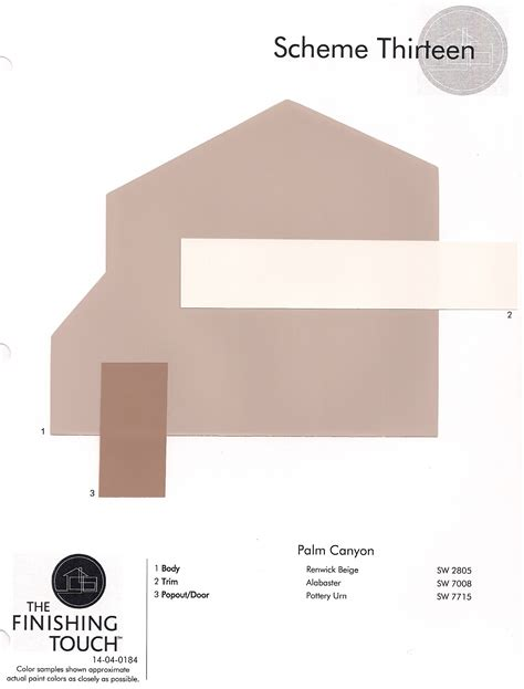 approved color palette palm homeowners association