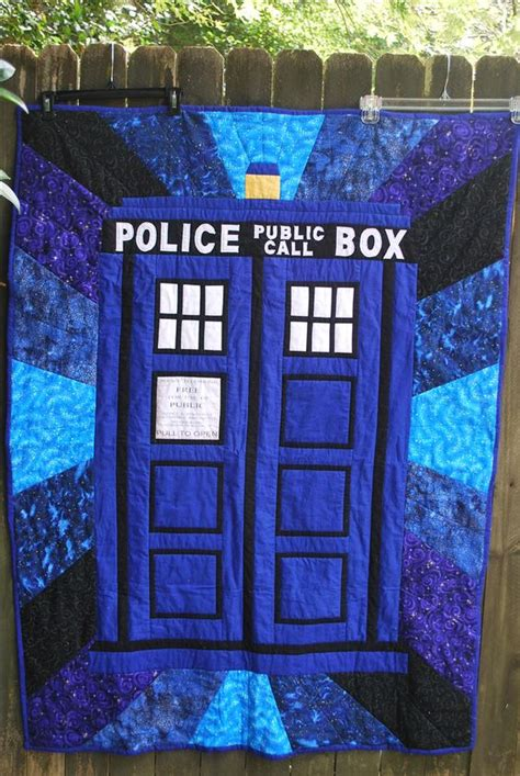 dr who tardis quilt quilts and things i made