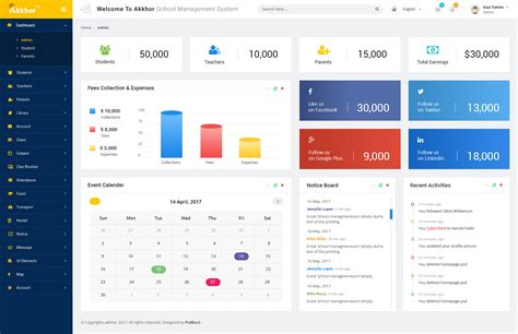management system template admin akkhor school management system psd by psdboss