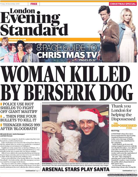 The Evening News Newspaper Newspaper Evening Standard United Kingdom Front Pages From Newspapers In United Kingdom