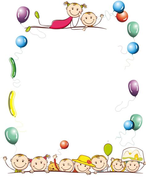 imagenes infantiles tamaño a4 bordes de caratulas para educacion fisica buscar con