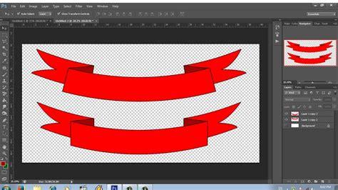 cara design banner guna photoshop dasar photoshop cara mudah membuat banner ribbon youtube