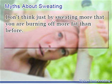 Sweating Detox Myth by How Simply Sweating Buckets Can Help You Lose Weight Fast