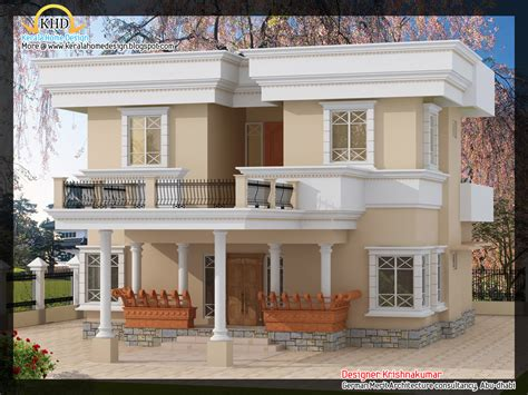 elevation house 2200 sq ft villa with fine line elevation kerala house