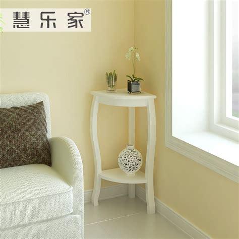 small white corner table hui roca garden corner living room side table white