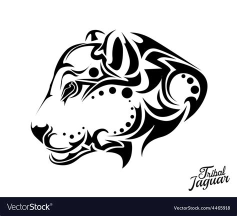 tribal jaguar tattoo royalty free vector image