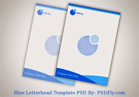stationery design templates blue letterhead template psd psd fly free psd files