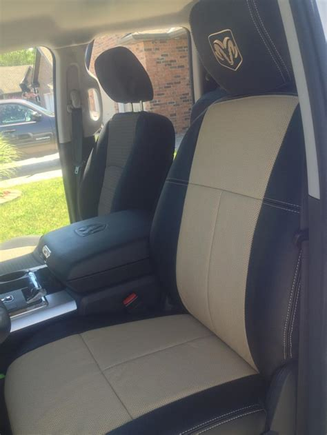 dodge ram seat upholstery custom leather seat covers in dodge ram truckleather