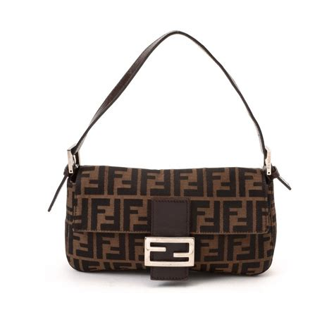 Canvas And Wicker B Fendi Bag by Fendi Canvas Lxrandco Pre Owned Luxury Vintage