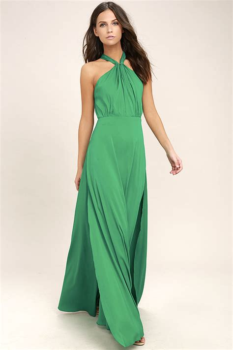 Ll Halter Veve Green lovely green dress maxi dress halter dress gown 74 00