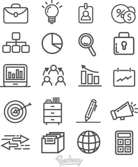Office And Business Vector Icons Set On Gray Royalty Free Stock Images Image 33973149 Gray Business Icons On White Background Free Vector In Adobe Illustrator Ai Ai Vector