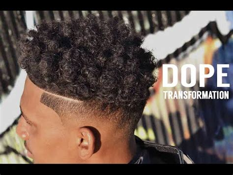 coils with a fade haircut haircut tutorial shadow fade curl sponge with side part