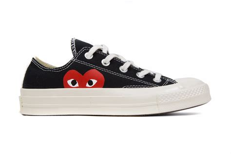 Sale Sepatu Converse Ox 70s Come De Garcons converse x comme des garcons play all chuck 70 ox black feature sneaker boutique
