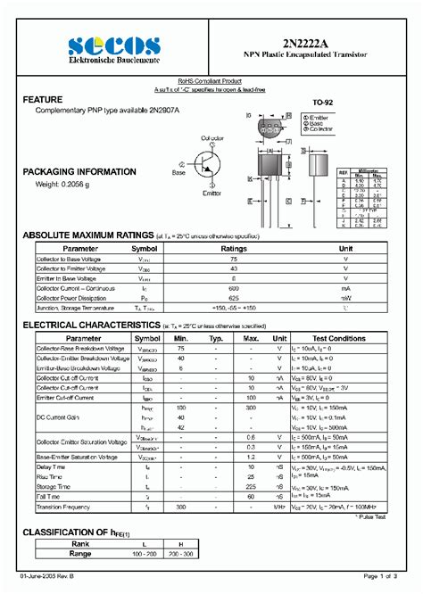2n2222a 4430686 pdf datasheet ic on line
