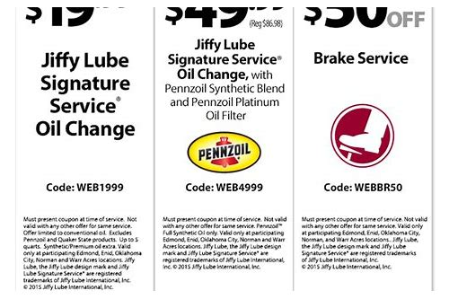 19.99 oil change jiffy lube coupon 2018