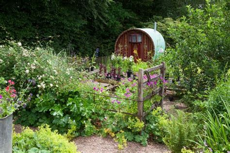 in a cottage garden with carol klein my caravan a fantastic present from my husband neil