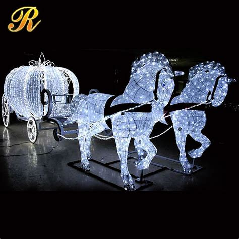 lighted christmas horse and carriage brand new outdoor decoration carriage buy outdoor decoration