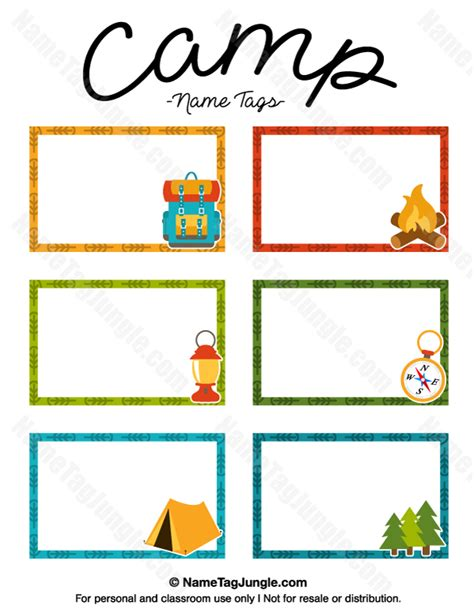 children s name card templates printable c name tags