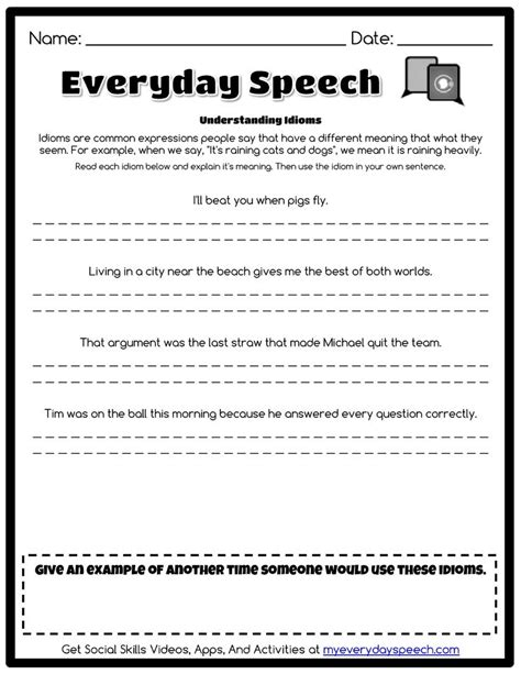 everyday use worksheet check out the worksheet i just made using everyday speech s worksheet creator understanding