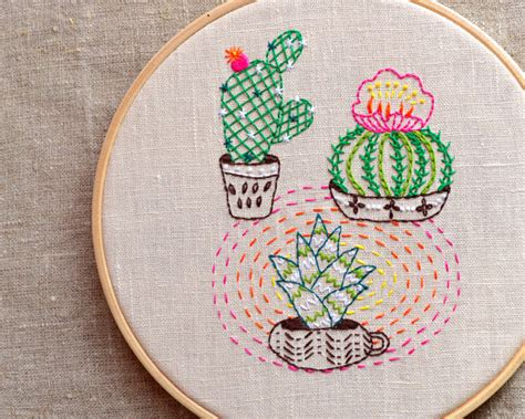 cactus embroidery pattern embroidery pattern cactus