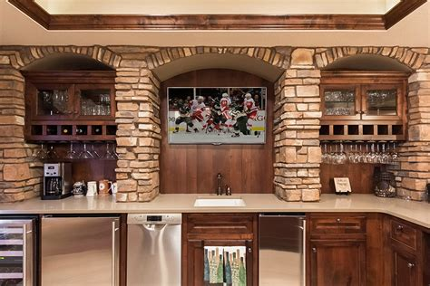 Basement Bar Backsplash Built In Bar Studio Design Gallery Best Design