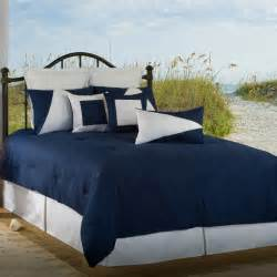 victor mill latitude 11 navy blue white full comforter set free shipping