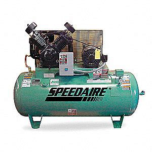 speedaire 3 phase electrical horizontal tank mounted 10 0hp air compressor stationary air