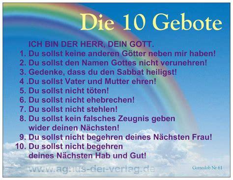 Heavens Presents Agnus Dei Verlag Postkarte 10 Gebote