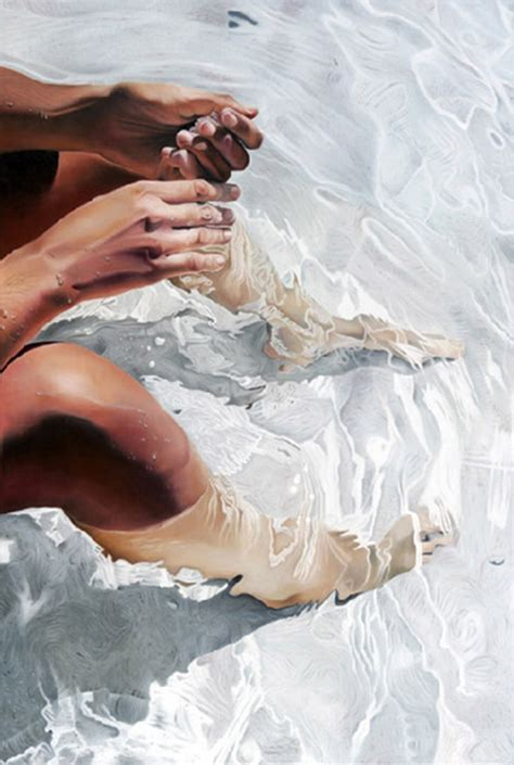 real painting impressive hyper realistic paintings of taking a dip in
