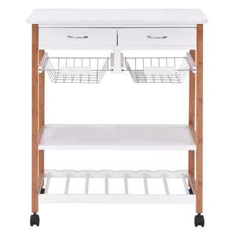 rolling wood kitchen storage cart rack with drawer kitchen rolling wood trolley cart island storage basket