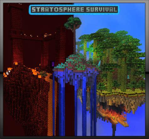 minecraft best survival maps stratosphere survival island based minecraft adventure