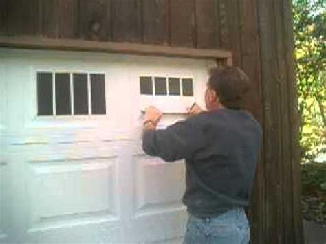 Curb Appeal Diy - faux fake carriage garage door window illusion installation youtube