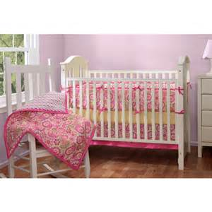 baby boom paisley pink 5pc crib bedding set walmart