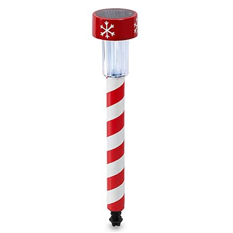 candy cane led solar powered path marker bed bath beyond