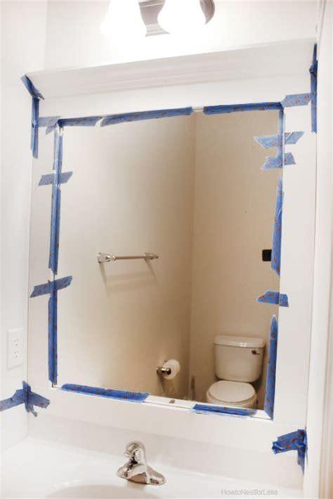 builder grade bathroom mirror 1000 ideas about frame bathroom mirrors on