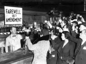 Prohibition Christmas Party - alcohol beer history drinking cheers 1930s 1933 30s on this day drink up prohibition 18th